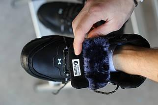 Ботинки мужские зимние Under Armour. Кожа/Чёрные , фото 2