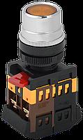 Кнопка ABLF-22 d22мм неон/240В 1з+1р