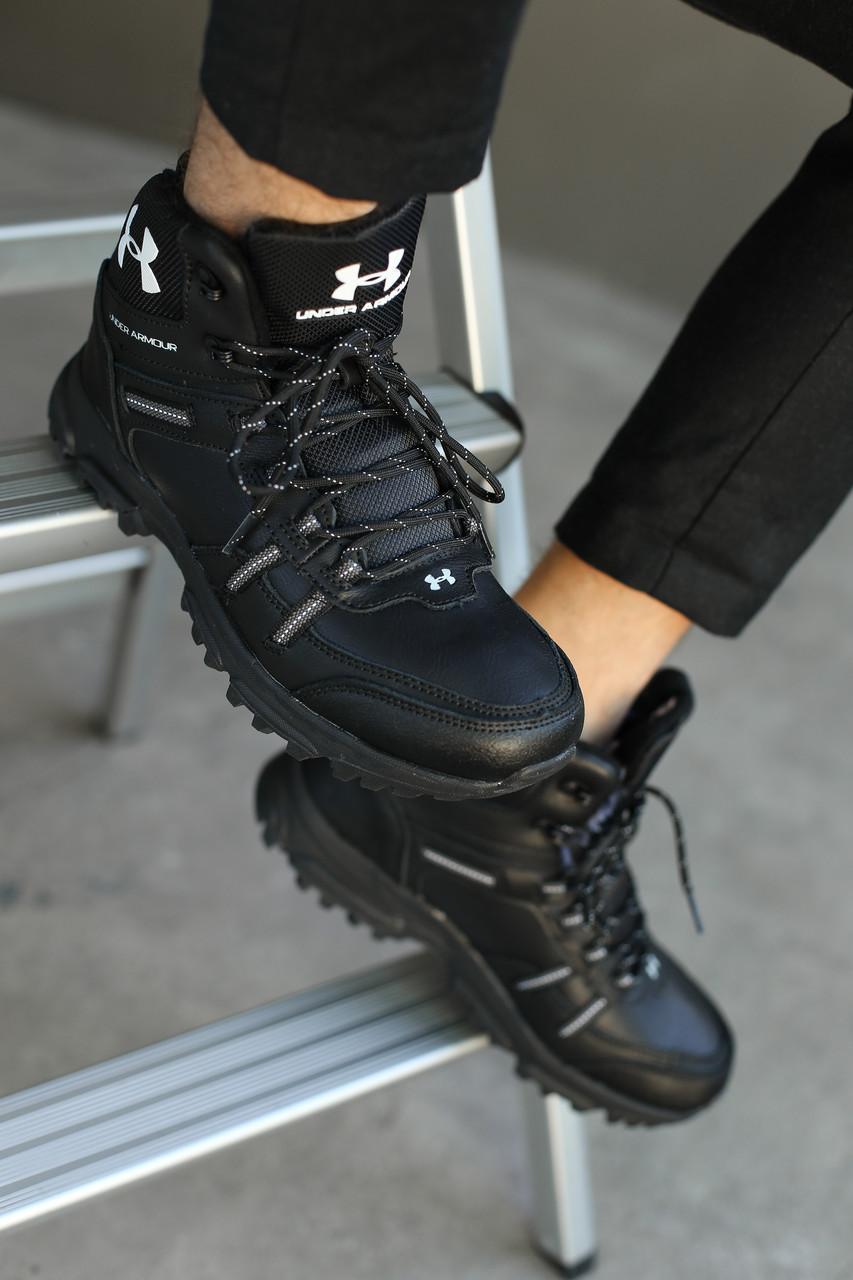 Ботинки мужские зимние Under Armour. Кожа/Чёрные