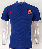 Футболка поло Барселона сезон 2017-2018 (синяя)