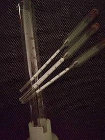 Набор спиртометров (ареометров) (ГОСТ) АСП – 3+мерная колба (ИВАНО-ФРАНКОВСК)