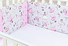 Защита в детскую ASIK кроватку Маленькая балерина серо-розового цвета (1-73), фото 2