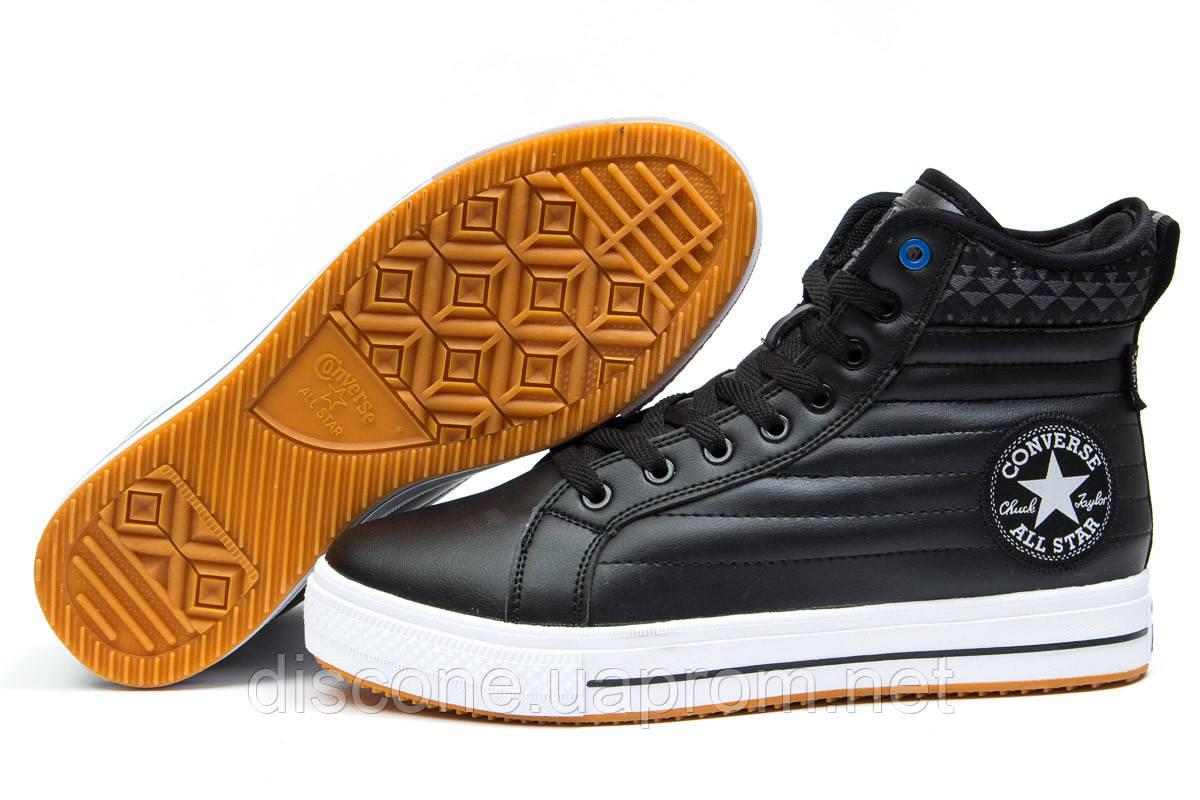Зимние ботинки на меху ► Converse Waterproof,  черные (Код: 30493) ►(нет на складе) П Р О Д А Н О!