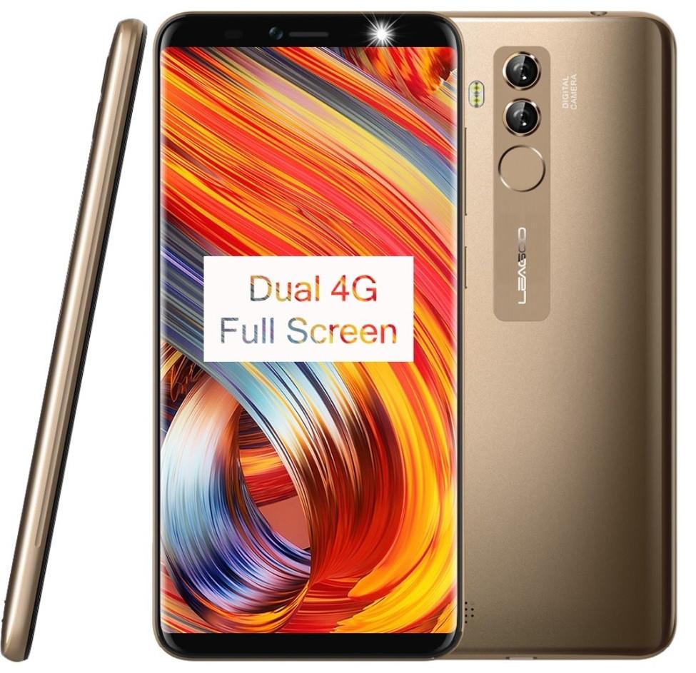 "Смартфон Leagoo M9 Pro Gold  2/16Gb,13+2/5Мп, MT6739V, 2sim, 5.72"" IPS, 3000мАч, GPS, 4 ядра, 4G"