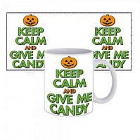 Чашка Happy Halloween Ceep Calm