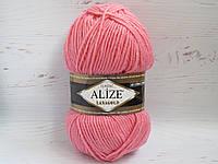 Пряжа для вязания Alize Lanagold цвет 265 персик, полушерстяная пряжа для вязания шапок, свитеров