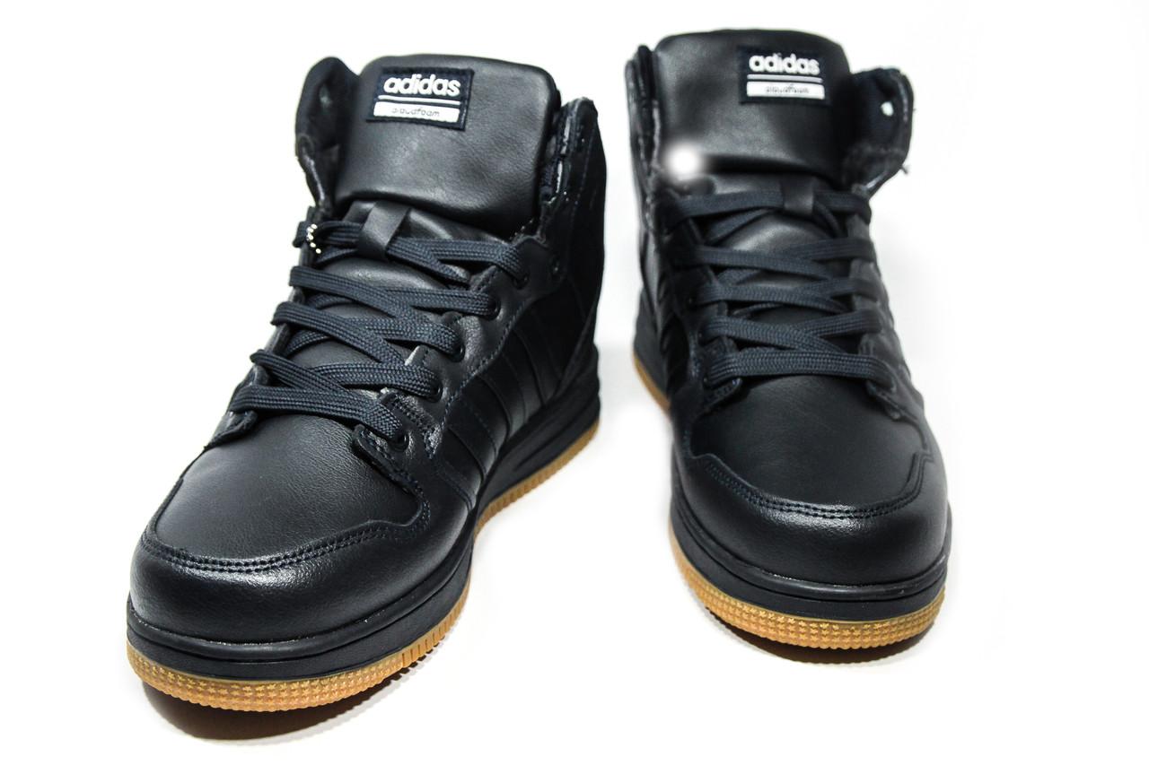 Зимние ботинки (на меху) мужские Adidas Cloudfoam (реплика) 3-046, ... a506aed3c5b