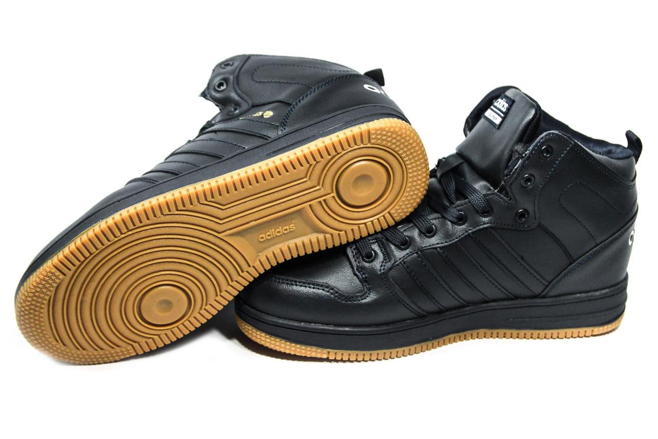 ... Зимние ботинки (на меху) мужские Adidas Cloudfoam (реплика) 3-046, 1c3eb413697