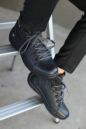 Мужские зимние ботинки CATERPILAR. Кожаные/Чёрные, фото 2