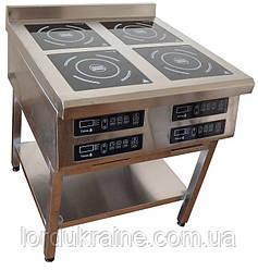 Індукційна плита 4-х конфорочна (800х900 мм) підлогова 3,5 кВт ТМ Tehma