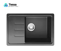 Мойка кухонная гранитная Tessa Sabina black 90003