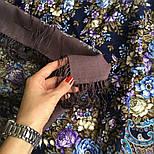 Душистый луг 1830-1, павлопосадский платок шерстяной  с шелковой бахромой, фото 6