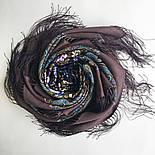 Душистый луг 1830-1, павлопосадский платок шерстяной  с шелковой бахромой, фото 8