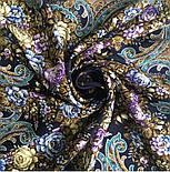 Душистый луг 1830-1, павлопосадский платок шерстяной  с шелковой бахромой, фото 4