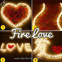 """Романтичний набір світильників - """"Fire Love"""" - 100 шт, фото 1"""