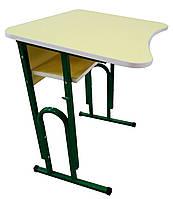 Комплект учнівський регульований 1-місний антисколіозні (Парта +1 стілець)