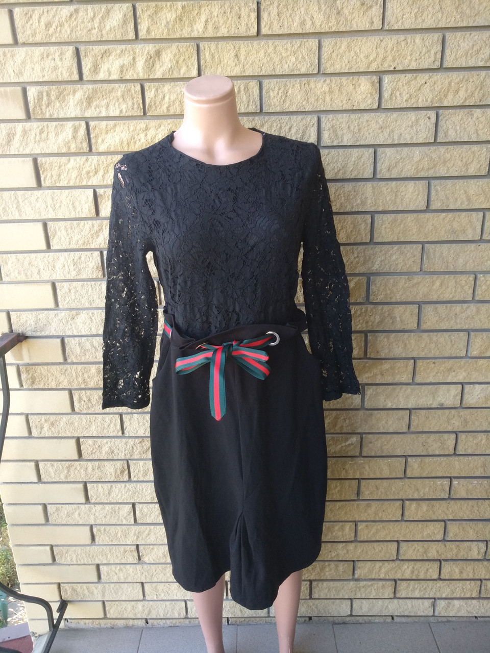 Платье женское высокого качества с кружевом LYSETA , Турция
