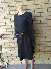 Платье женское высокого качества с кружевом LYSETA , Турция, фото 3