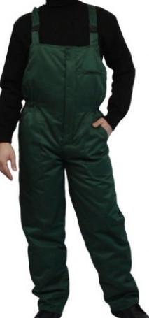 Полукомбинезон утепленный зеленого цвета, тк.Грета (ЧШК)