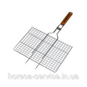 Решітка нержавіюча прямокутна для гриля, барбекю 460*260 мм (шт)