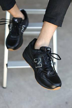 Кроссовки мужские  New Balance.Кожа/Черные (р.41-47), фото 2
