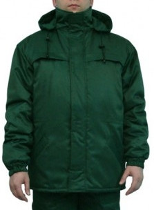 """Куртка утепленная рабочая """"полюс"""" цвет зелений"""