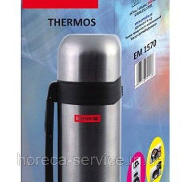Термос нержавеющий круглый для воды и еды V 1200 мл (шт)
