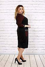 Женское демисезонное деловое платье больших размеров :42-74, фото 2