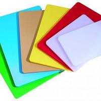 Доска разделочная пластиковая разных цветов 400*300*20 мм (шт)