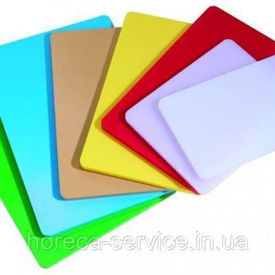 Доска разделочная пластиковая разных цветов 400*300*20 мм (шт), фото 2
