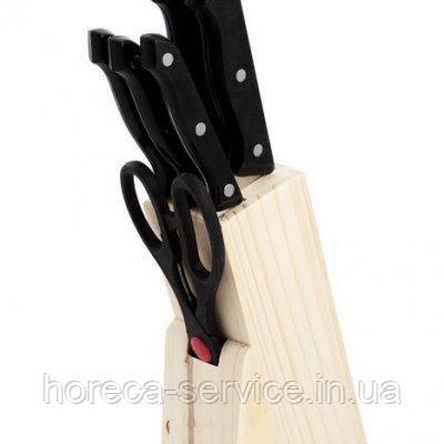 Ножи на деревянной подставке (набор 7 шт)