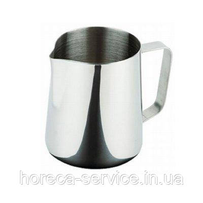 Джаг нержавеющий круглы для молока V 600 мл (шт), фото 2