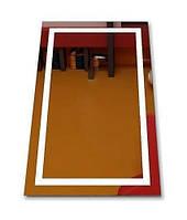 Зеркало кант с LED подсветкой 650 х 800 влагостойкое для ванной комнаты