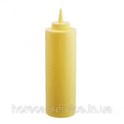 Диспенсер пластиковый для соусов и сиропов желтого цвета V 700 мл (шт)