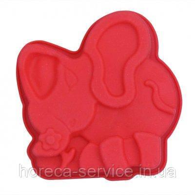 """Силиконовая форма""""Африканский слон""""135*130*30 мм (шт)"""