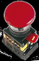 """Кнопка AEAL22 """"Грибок""""с фиксацией красный d22мм 240В 1з+1р"""