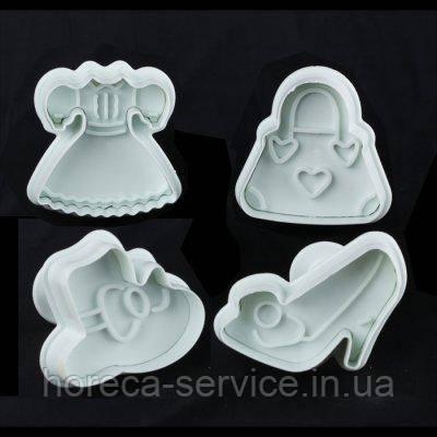 """Плунжер пластиковый для мастики""""Дамский""""(набор 4 шт)"""