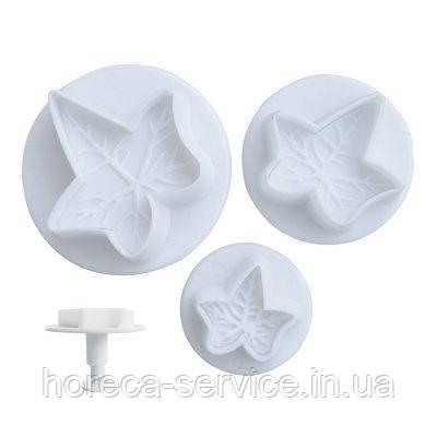 "Плунжер пластиковый для мастики""Плющ мини""(набор 3 шт), фото 2"