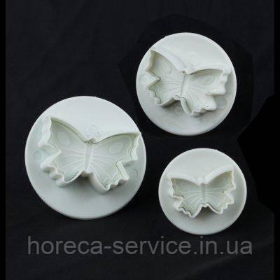 "Плунжер пластиковый для мастики""Бабочки мини""(набор 3 шт)"