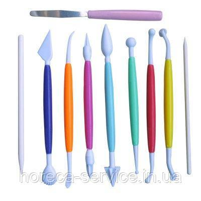 Стеки пластиковые для работы с мастикой (набор 10 шт)