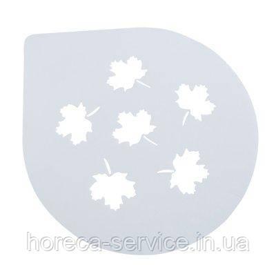 """Трафарет пластиковый для торта""""Осенние листья""""Ø 255 мм (шт)"""