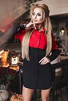 M (44-46) / Повседневная стильное платье-рубашка Bongo, красный Розпродаж M