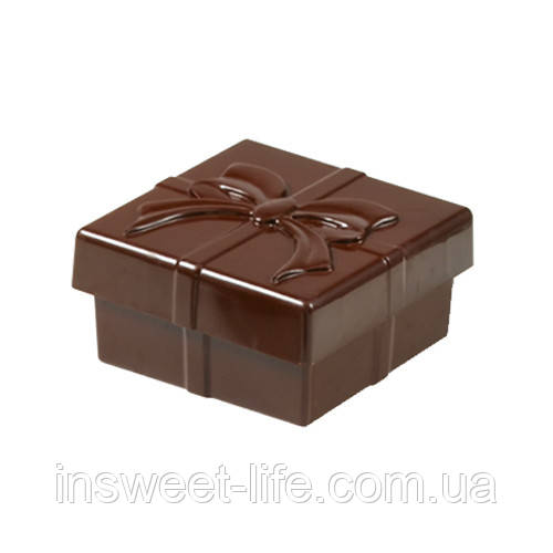 """Поликарбонатная форма шоколадная коробочка """"Подарочная коробка"""""""