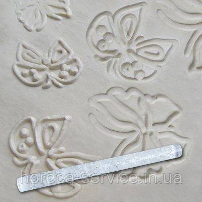 """Скалка текстурная акриловая""""Бабочка""""L 210 мм (шт), фото 2"""