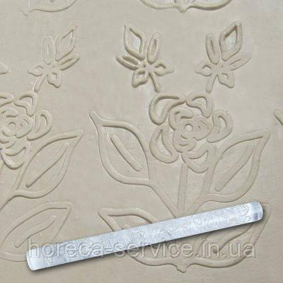 """Скалка текстурная акриловая""""Роза на веточке""""L 210 мм (шт), фото 2"""