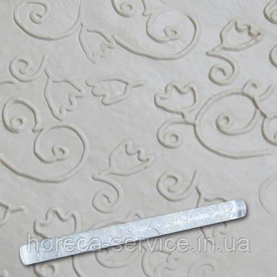 """Скалка текстурная акриловая""""Тюльпан с завитками""""L 210 мм (шт), фото 2"""