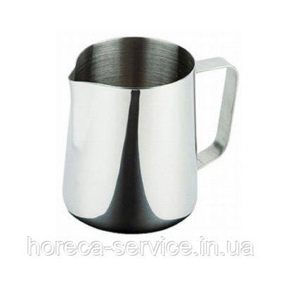 Джаг нержавеющий круглый для молока V 900 мл (шт), фото 2
