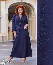 Шикарное нарядное вечернее длинное женское платье размеры: 50-56, фото 3