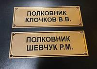Офисные таблички на дверь (металл)