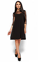 S, M, L / Вечернее изысканное платье-трапеция Rina, черный, фото 1